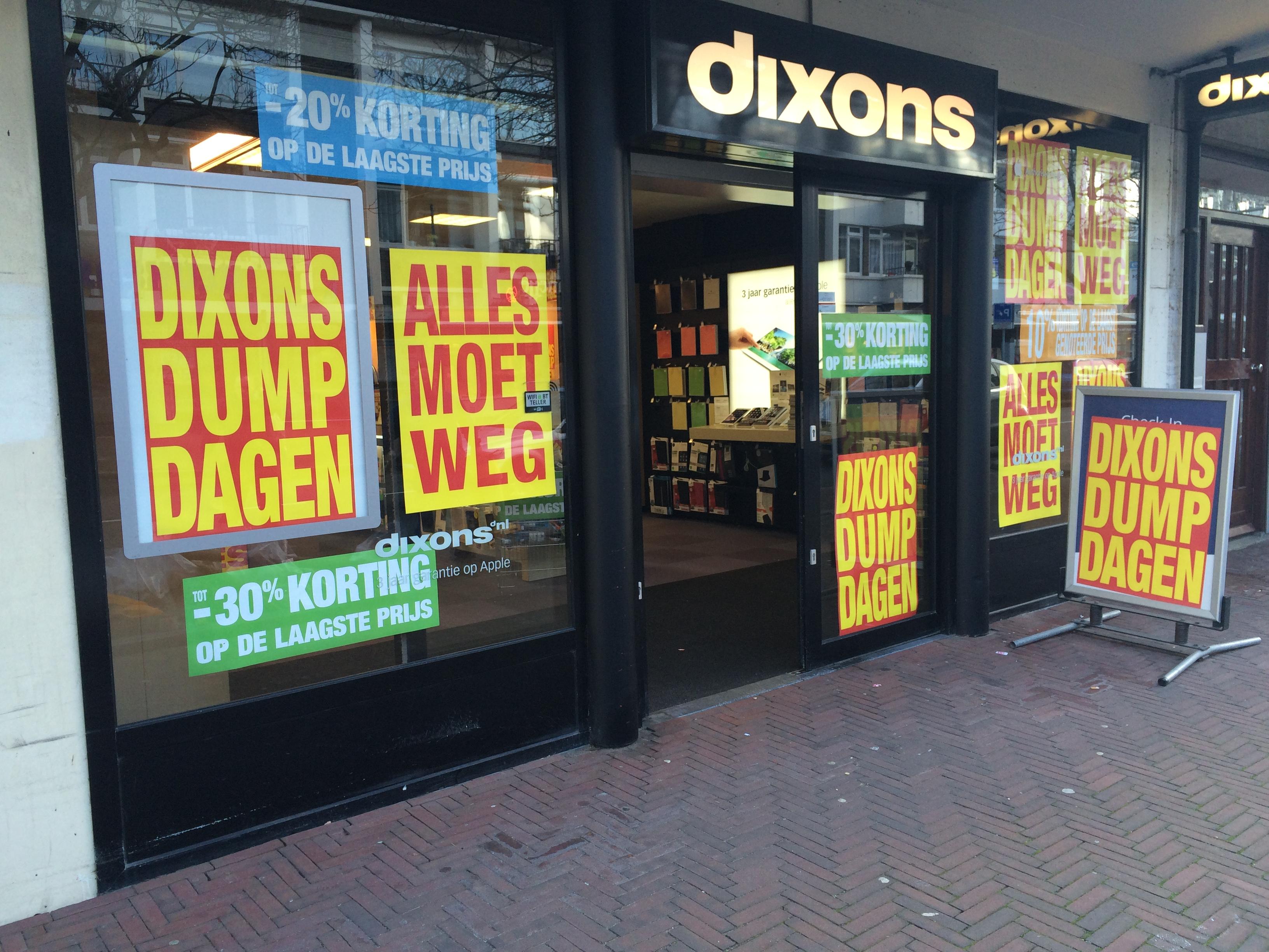 Dump Dagen bij Dixons Den Haag Theresiastraat