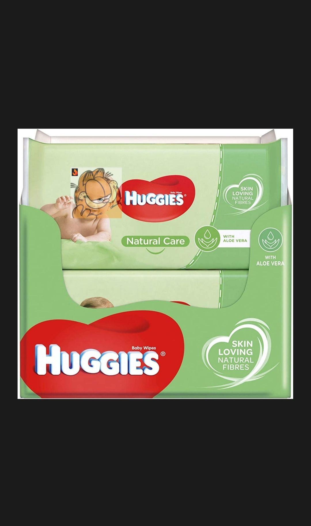 Huggies baby billendoekjes - Natural Care - 560 doekjes - Voordeelverpakking @amazon.nl