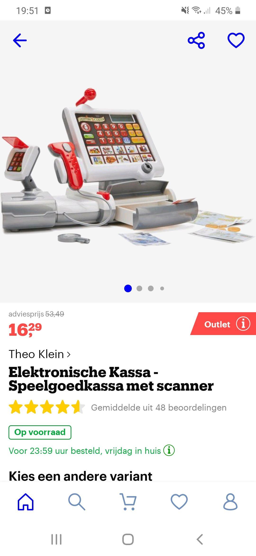 Elektronische speelgoed kassa met scanner