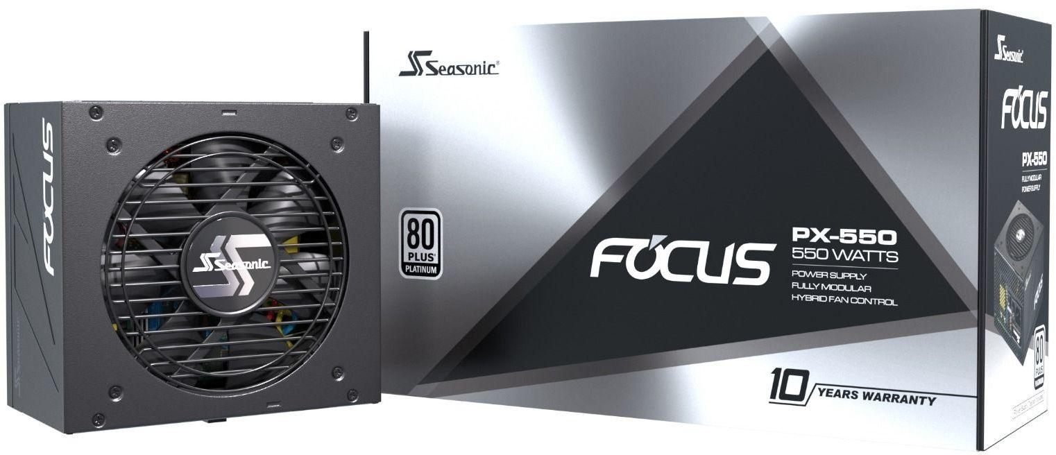 Seasonic Focus PX-550 80 Plus Platinum, volledig modulaire computer voeding