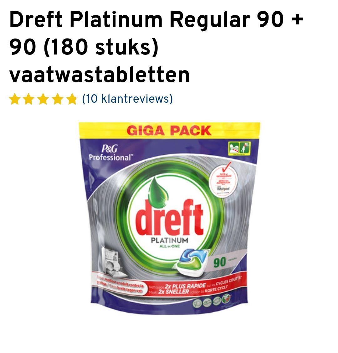 Dreft platinum 1+1, 180 stuks vaatwas tabletten