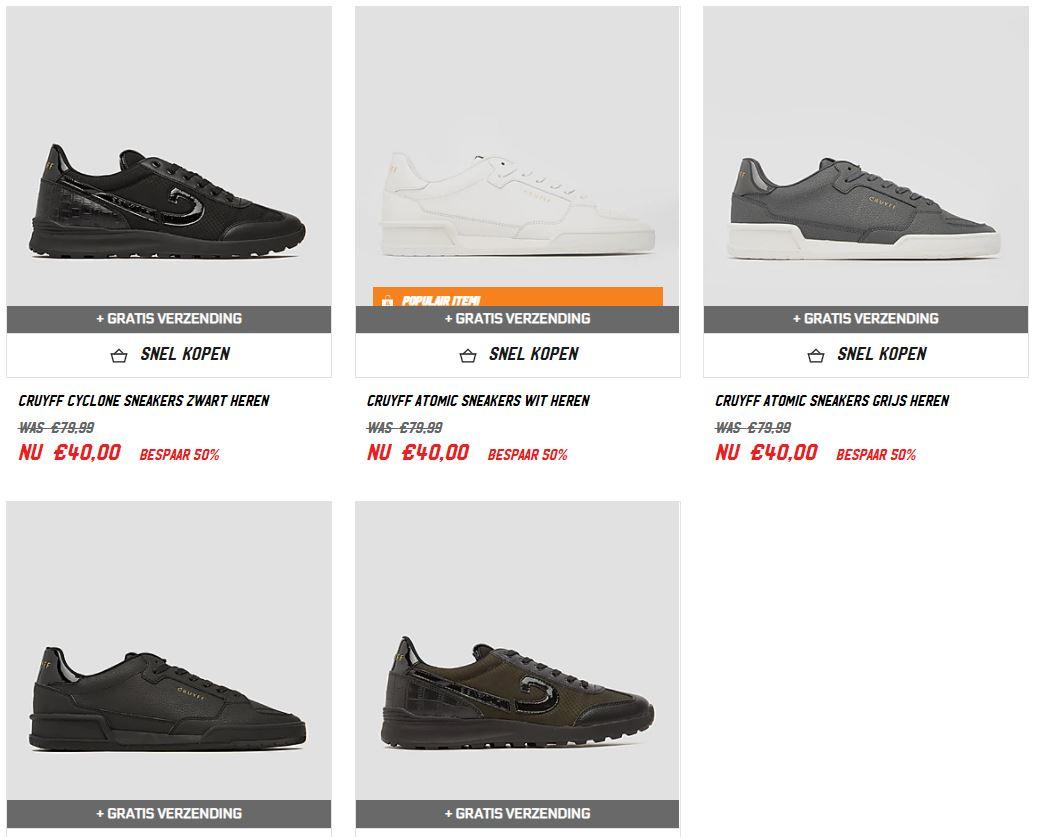 Cruyff sneakers · 2 modellen · diverse kleuren