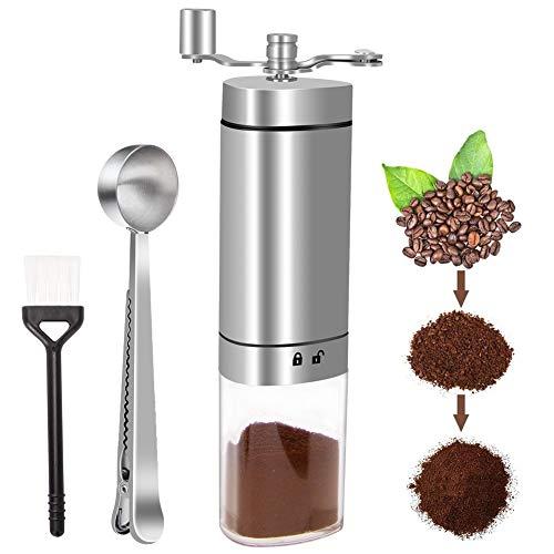 Linkax Handmatige koffiemolen met Borstel en Lepel
