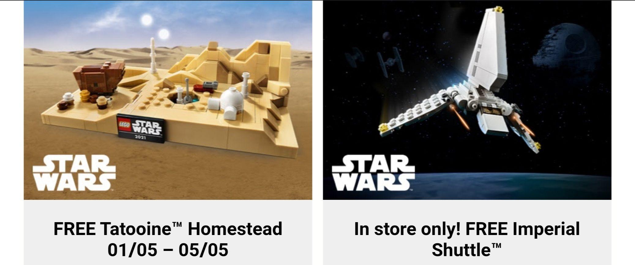 LEGO Star Wars - Dubbele VIP punten en gratis setjes bij minimale bestelwaarde