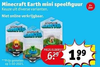 Minecraft earth figuren @Kruidvat België
