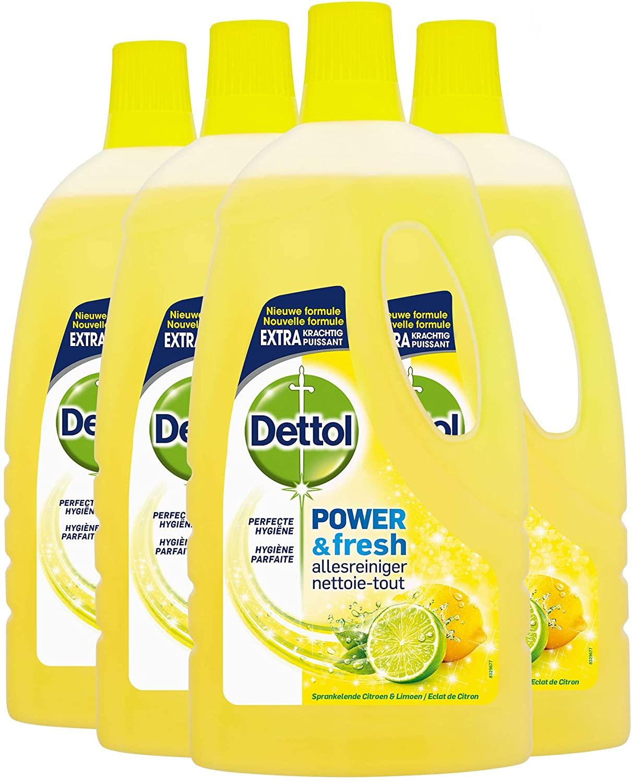 Dettol Power en Fresh Allesreiniger Citroen en Limoen 4 x 1 Liter