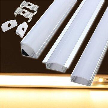 LUSTREON 50 cm aluminium kanaalhouder voor ledstripverlichting