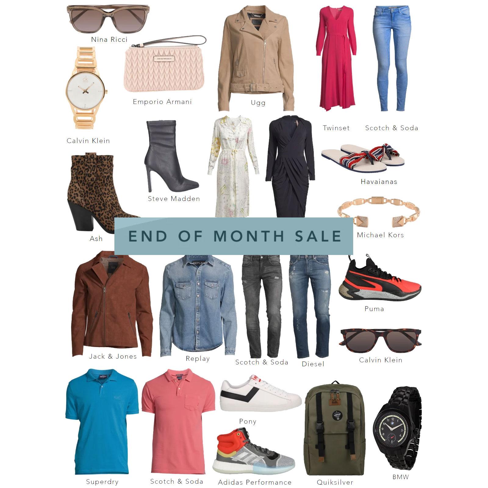 End of Month SALE - tot 86% korting op merkkleding + gratis verzending t.w.v. €5,90