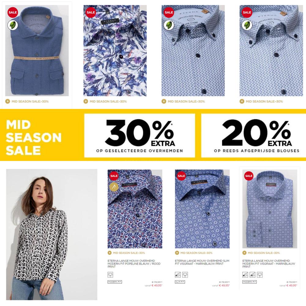 SALE + 30% extra korting op overhemden [va €49]