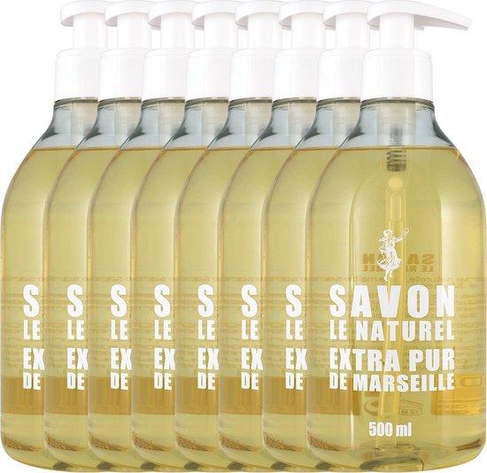 Savon Le Naturel handzeep 8x500ml (4 soorten)