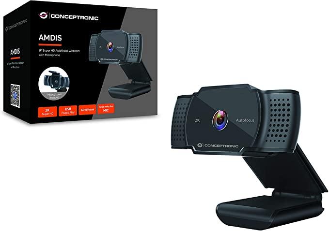 Conceptronic AMDIS02B 2K Super HD Autofocus Webcam @ Azerty