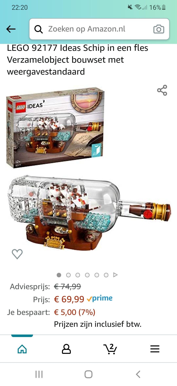 Lego ideas schip in een fles