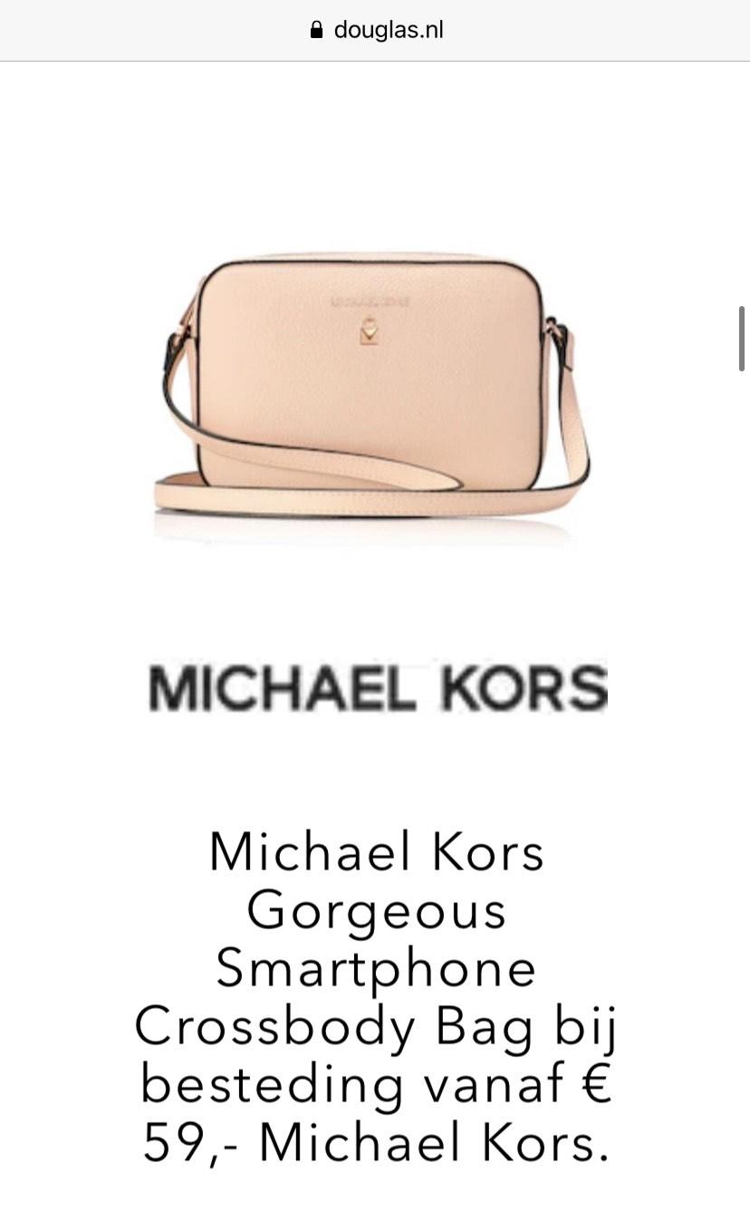Gratis Michael Kors Crossbody bij besteding van €59 @ Douglas
