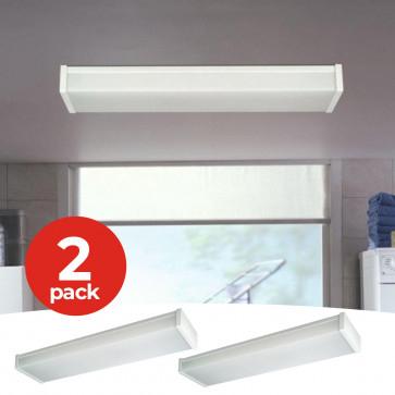 2-Pack Philips massive led plafondlamp wit