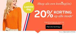 20% korting op alle mode* @ OTTO