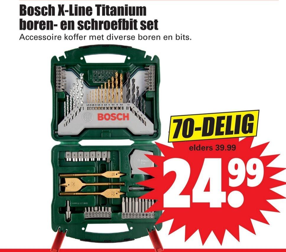 Bosch X-Line Titanium boren-en schroefbit set 70-delig bij Dirk