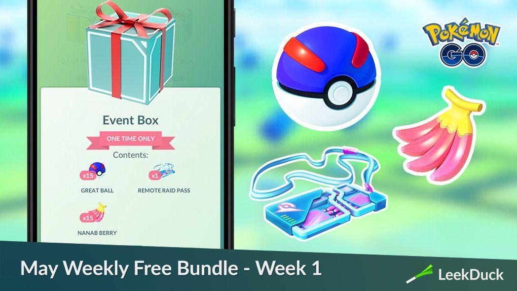 Pokémon Go wekelijkse gratis bundel