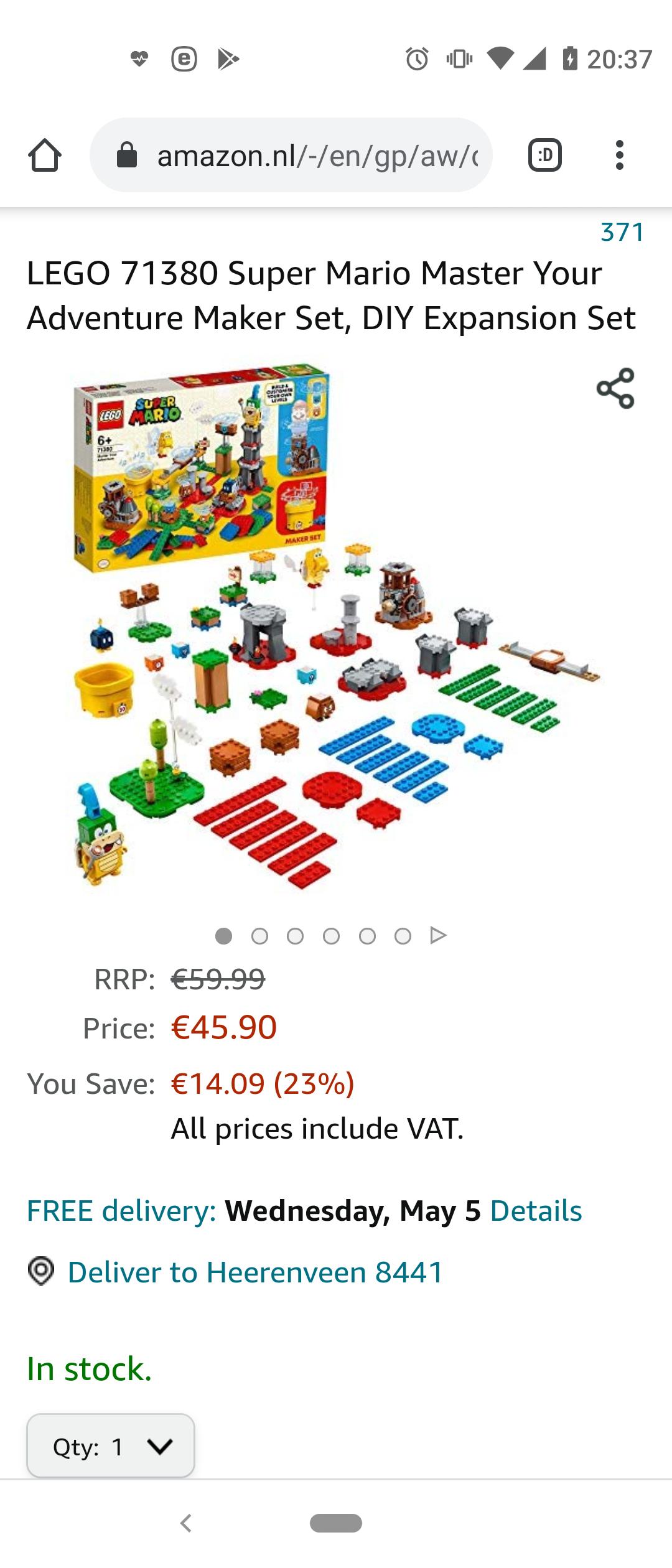 LEGO Super Mario Makersset: Beheers Je Avonturen - 71380