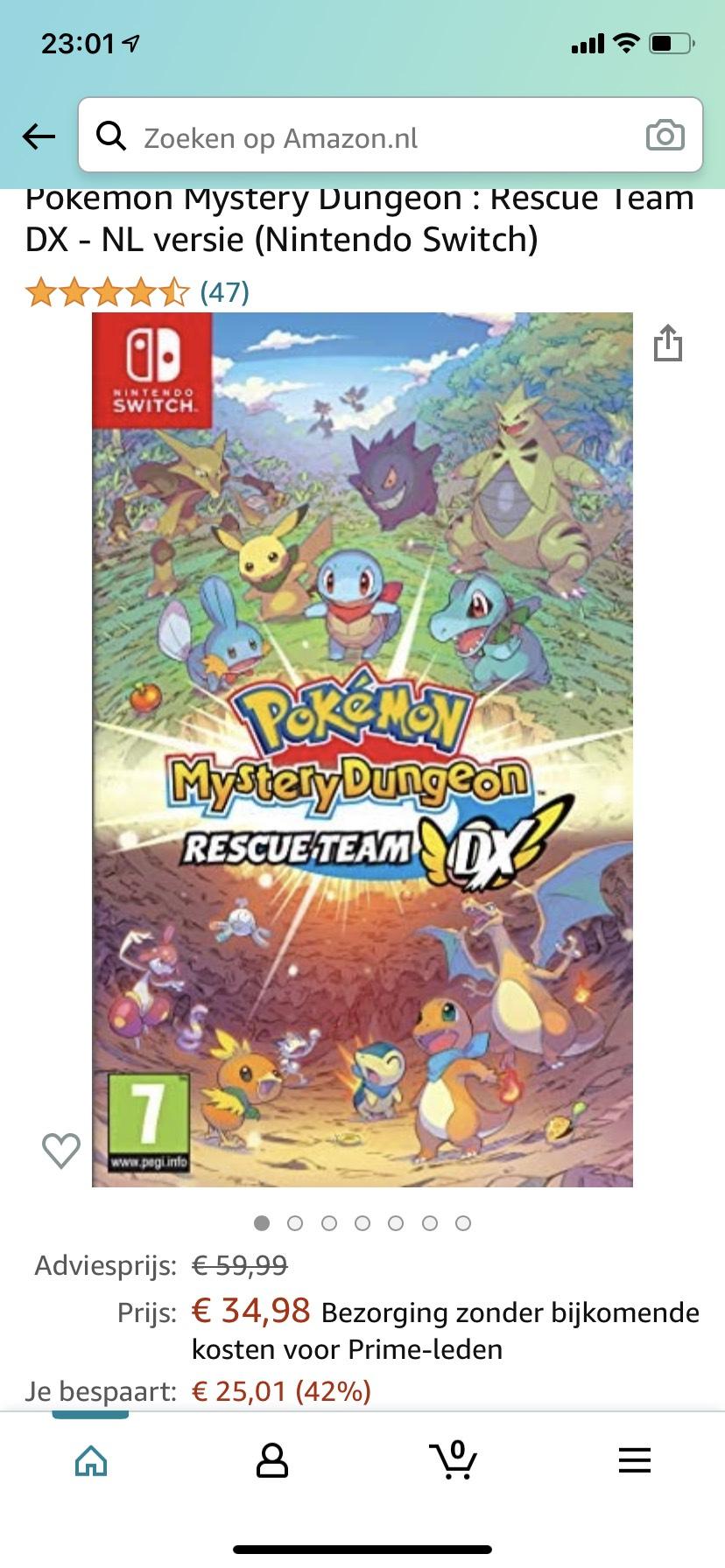 Pokemon Mystery Dungeon : Rescue Team DX - NL versie (Nintendo Switch)