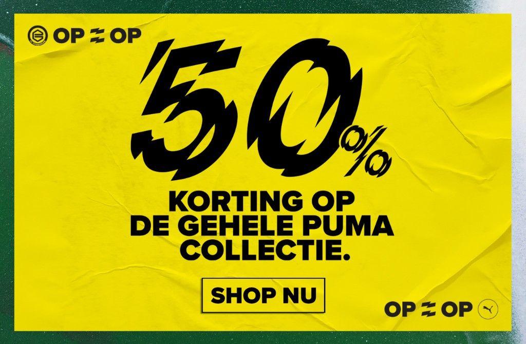 50% Korting op de FC Groningen Puma collectie
