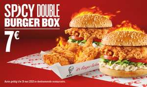 Spicy Double Burger Box (2 Zinger Burgers + 6 Hot Wings)