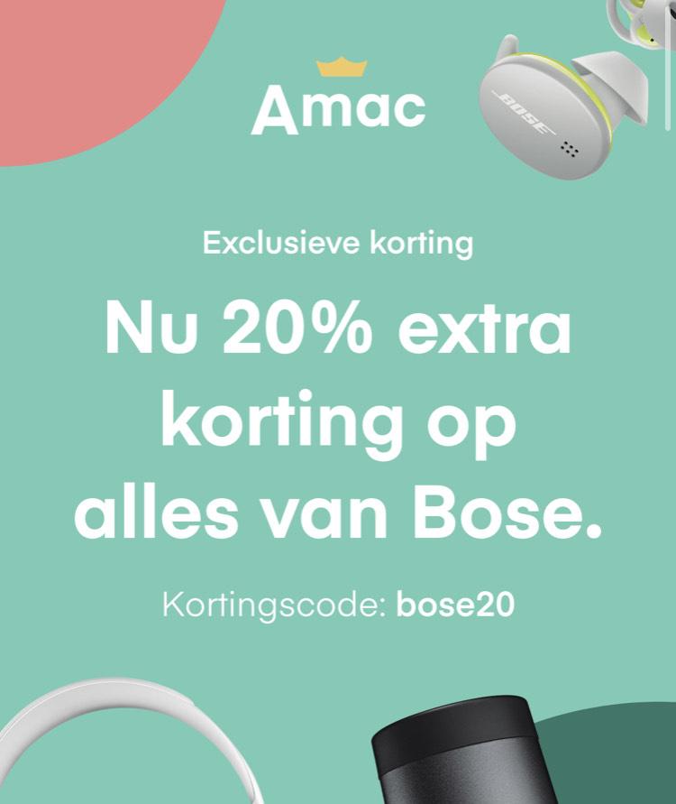20% korting op alle Bose producten @ Amac