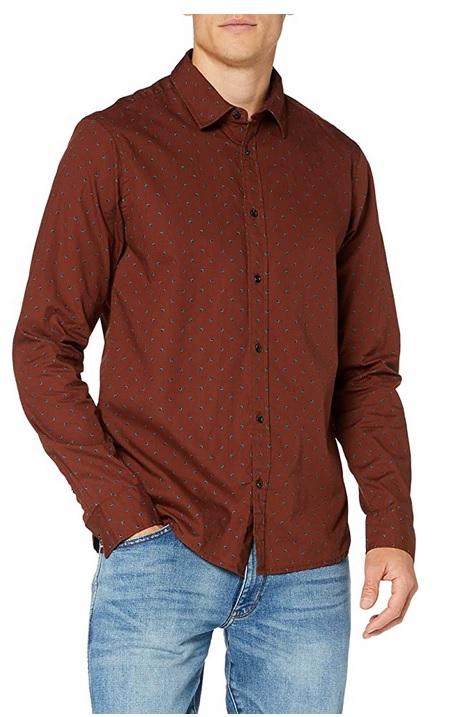 Scotch & Soda heren shirt REGULAR FIT - All-over printed poplin shirt