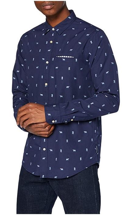 Scotch & Soda heren shirt REGULAR FIT - Chic pochet shirt