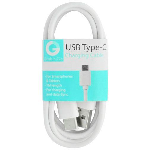 Grab 'n Go Datakabel USB-C 1 Meter White @belsimpel