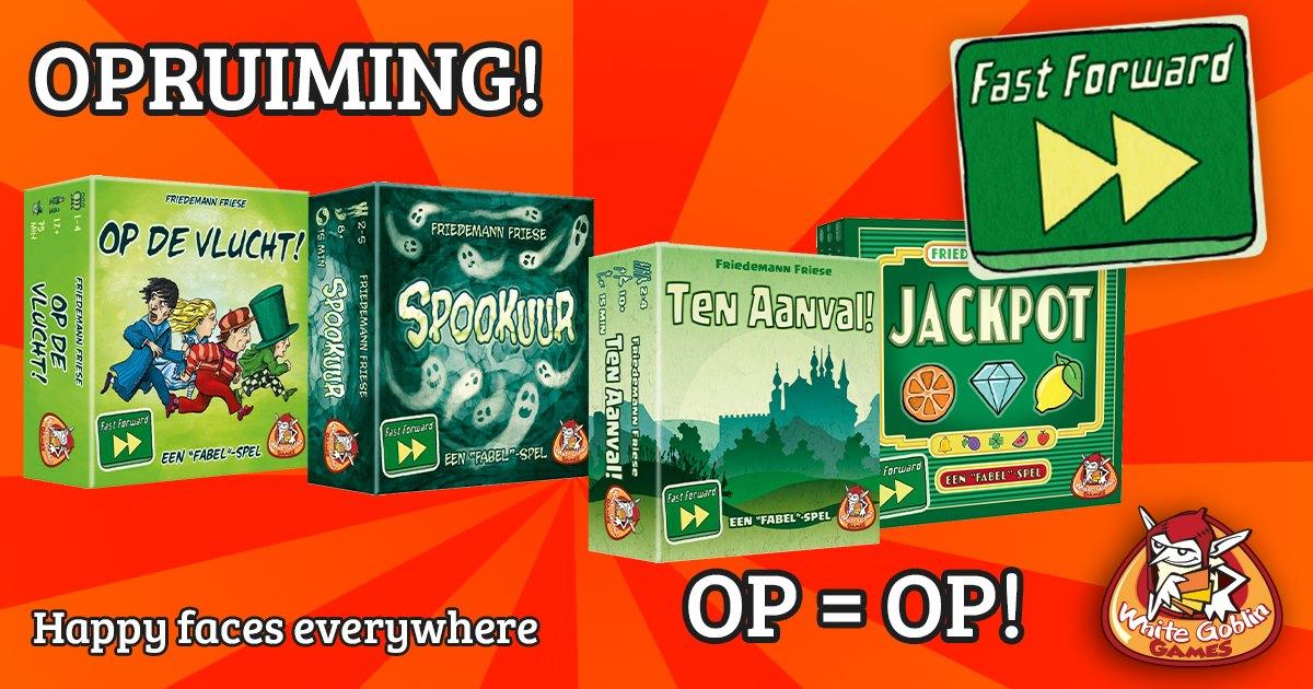 Fast Forward spellenpakket met 4 kaartspellen voor €26,96 @ WhiteGoblinGames