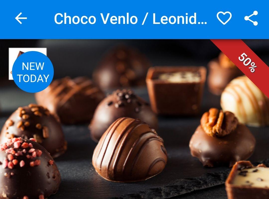 (Lokaal) Leonidas bonbons Choco Venlo 50% korting