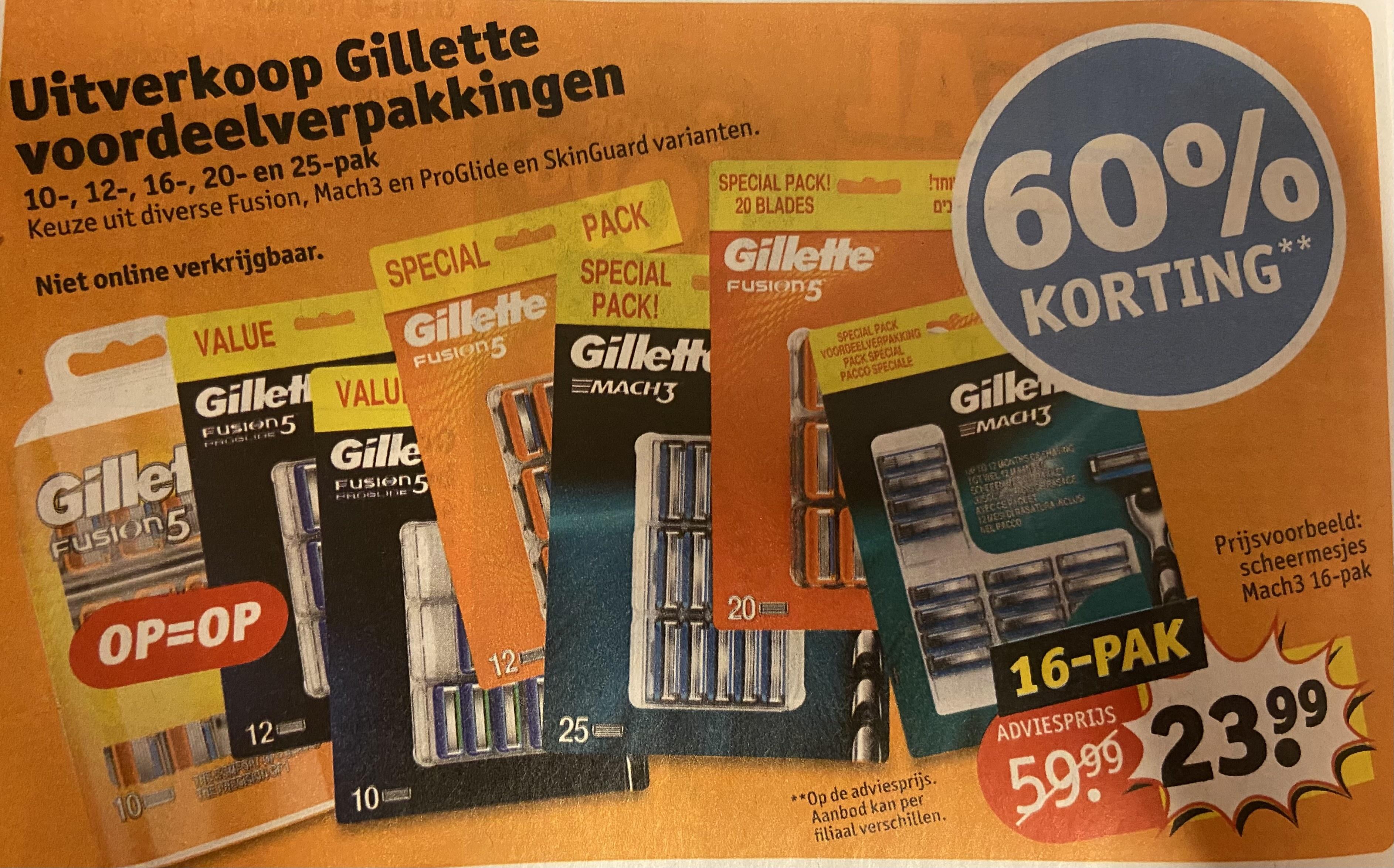 Gillette uitverkoop @Kruidvat