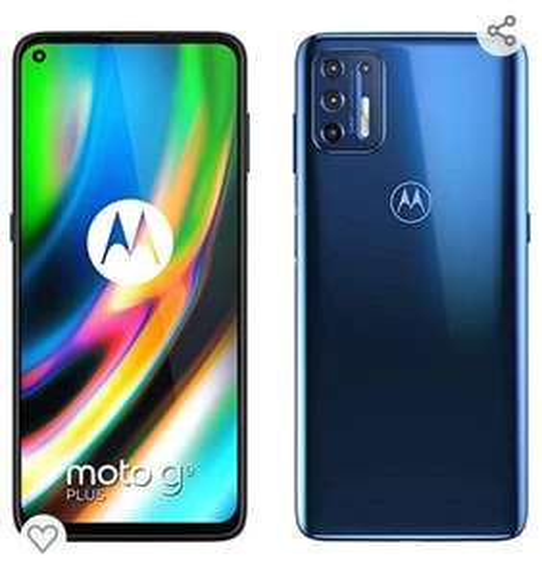 Motorola G9 Plus € 167,- @ Amazon, elders v.a.€ 217,-