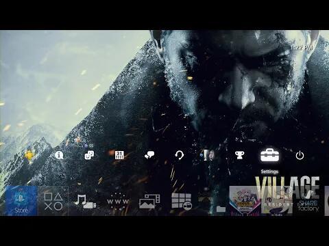 Gratis Resident Evil Village PS4 thema en PS4/PS5 avatars