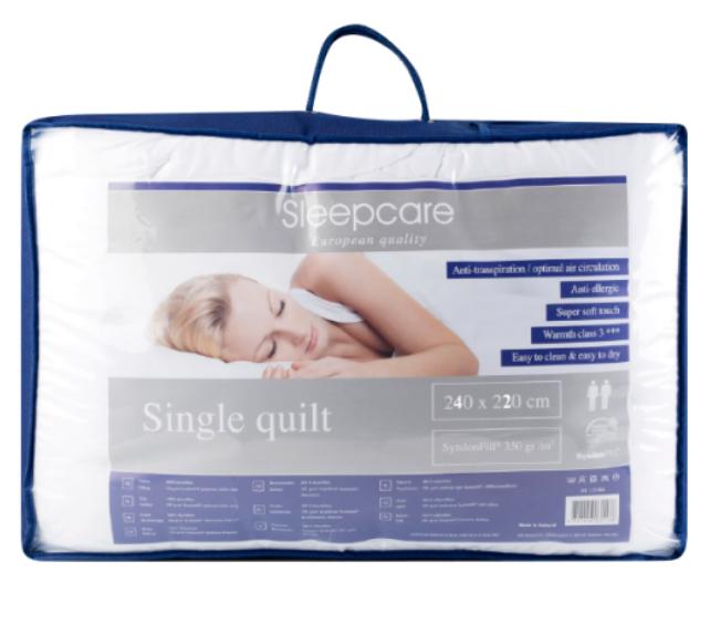 Sleepcare dekbed (240x220 cm) voor €15,95 @ Action