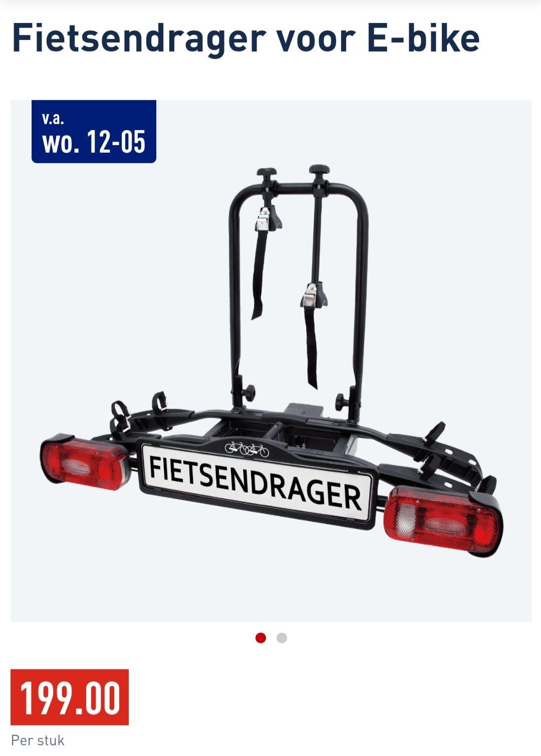 ALDI Fietsendrager voor 2 (elektrische) fietsen