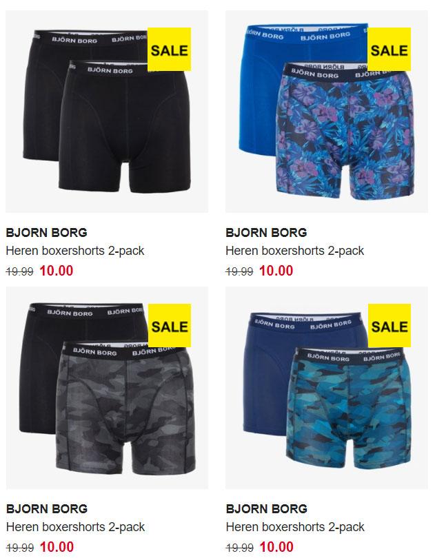 Bjorn Borg heren boxershorts 2-pack [maat S]