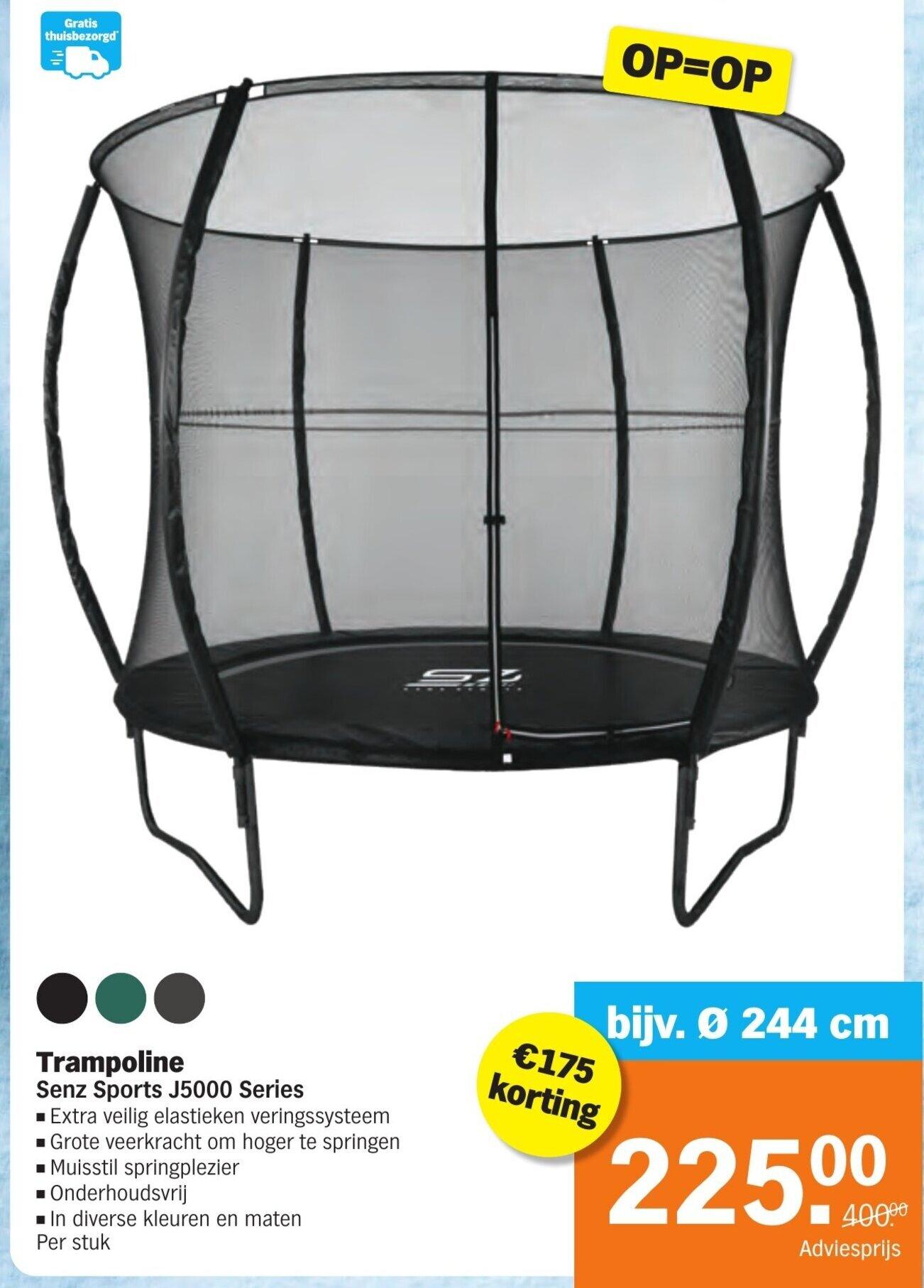 Trampoline Sens Sports J5000 series 244cm @ Albert Heijn