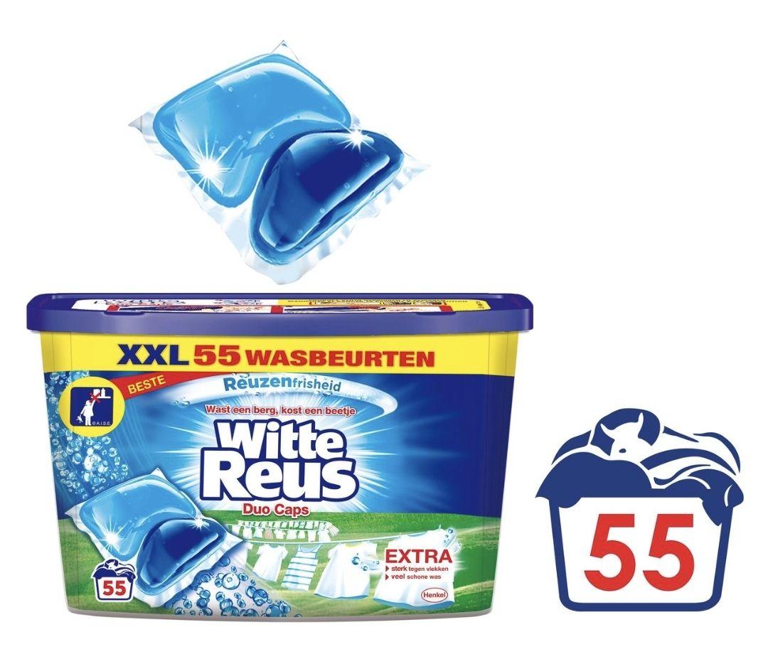 Witte Reus Duo Caps Wascapsules - Wasmiddel Capsules - Voordeelverpakking - 55 wasbeurten