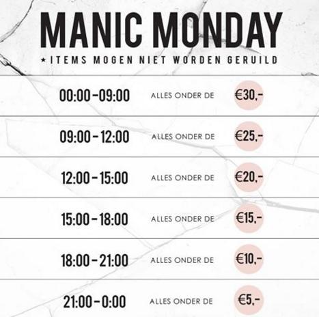 Manic Monday - de prijzen dalen steeds verder @ Modemusthaves