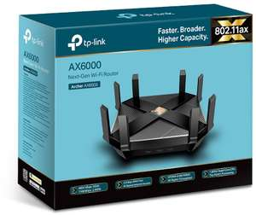 Zeer snelle wifi 6 router TP-Link Archer AX6000