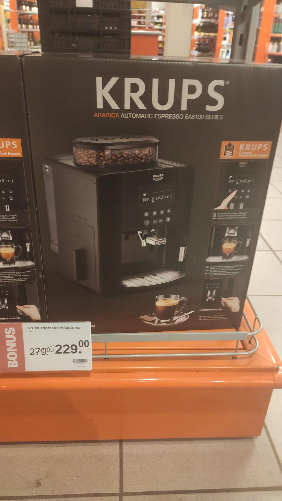 Krups 8100 espressomachine (AH breda Moerwijk, 2 stuks voorraad)