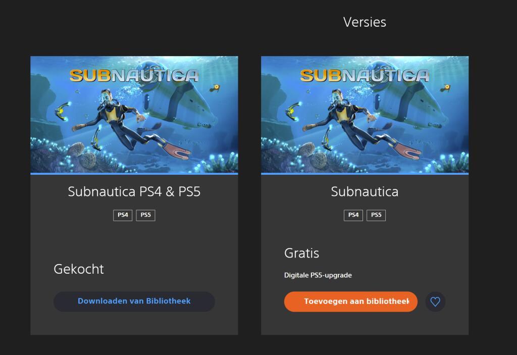 Gratis Subnautica PS5-upgrade @ PSN