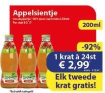 48 flesjes van 200ml Appelsientje €3 (+ €8 statiegeld) @ Die Grenze