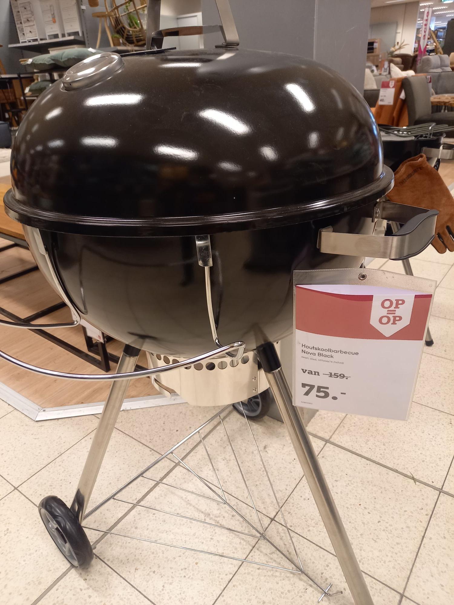 Patton nova black 47cm en 57cm (foto) houtskool barbecue @Leen Bakker Uden