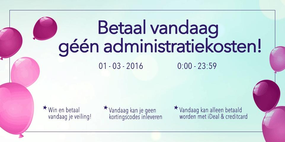 Vandaag geen administratiekosten (t.w.v. €5) @ Ticketveiling