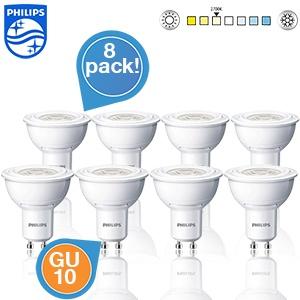 8  Philips LED spotlampen voor €35,90 @ iBOOD