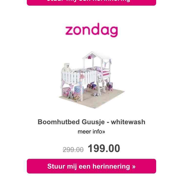 Boomhutbed Guusje voor €169 @ Leenbakker