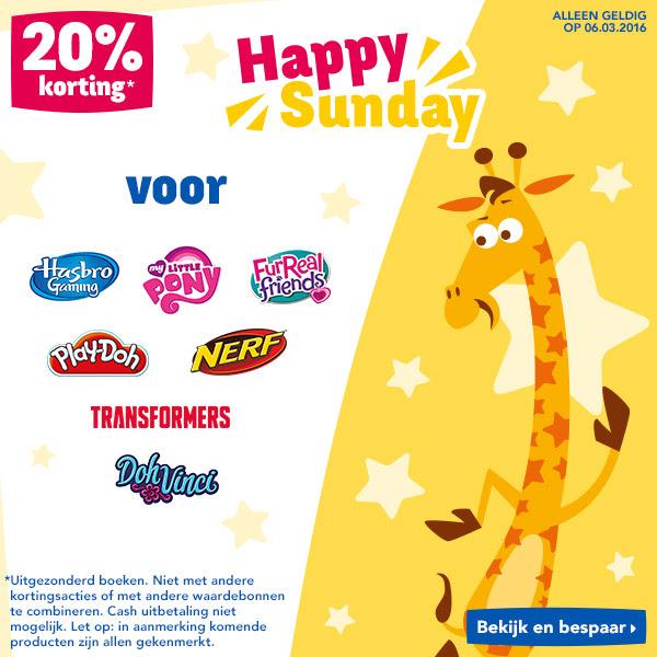Happy Sunday: 20% korting op Nerf, Play-Doh en meer @ Toys R