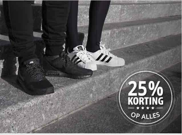 25% korting op alles @ Frontrunner